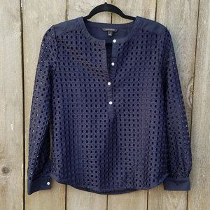 Banana Republic Lattice Lace Blouse - Size Small